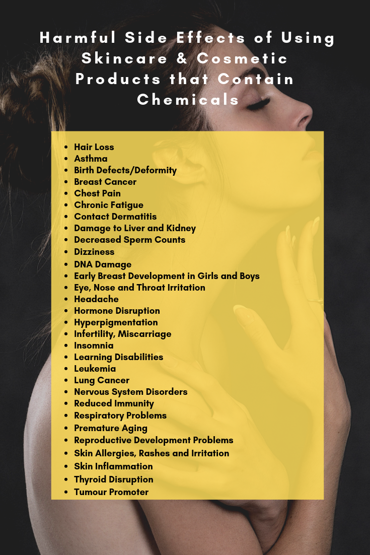 Harmful Side Effects of Toxins in Your Skincare & Cosmetic Products That Are Destroying Your Health
